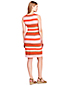 Women's Striped Ponte Shift Dress