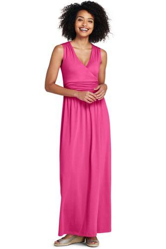 Sleeveless maxi dress easy-off snaps
