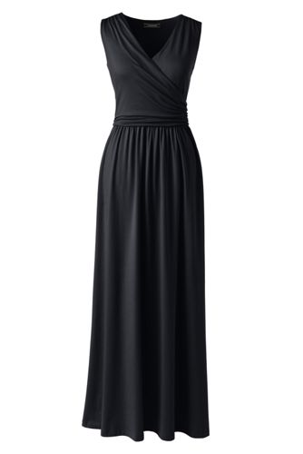 Womens Wrap Maxi Dress - 10 -12 Lands End cxq1ZMdh58