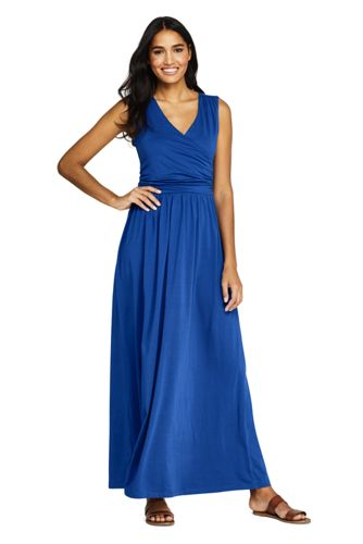 591972ccaf4e4 Women's Sleeveless Knit Surplice Maxi Dress from Lands' End