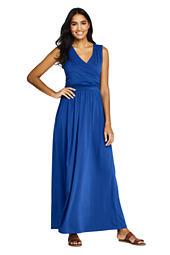 0232582a34 Women s Sleeveless Knit Surplice Maxi Dress from Lands  End