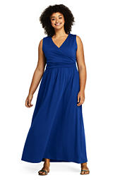 1bff1052349 Women s Plus Size Cap Sleeve Knit Scoop Neck Maxi Dress from Lands  End