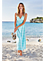 La Maxi Robe à Motifs Effet Cache-Coeur, Femme Stature Standard