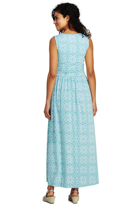 Women's Knit Surplice Sleeveless Maxi Dress