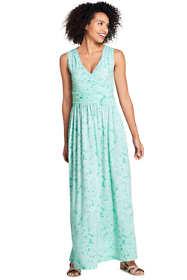 Women's Tall Sleeveless Knit Surplice Maxi Dress