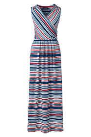 Women's Knit Surplice Sleeveless Maxi Dress