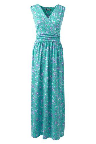 Women's Print Wrap Maxi Dress