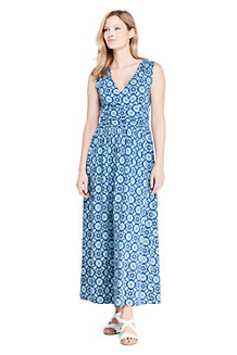 Women's Print Wrap Maxi Dress