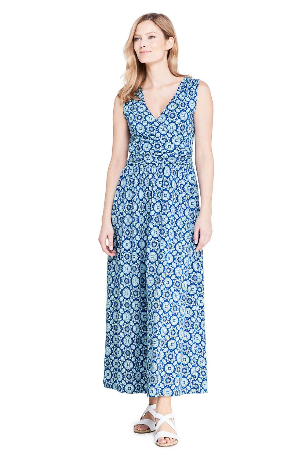 4b321c1ad0 Women's Knit Surplice Sleeveless Maxi Dress from Lands' End