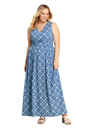 f75179ff6d5 Women s Plus Size Sleeveless Knit Surplice Maxi Dress