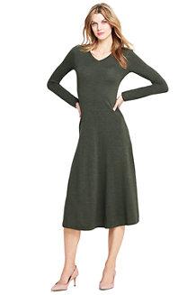 Women's Long Sleeve Dress in Merino Wool
