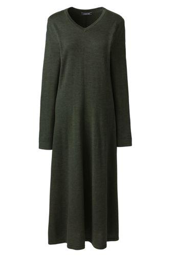 La Robe Pull en Laine Mérinos, Femme Stature Standard