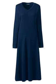 Women's Long Sleeve Dress in Merino Wool