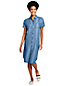 Women's Shirt Dress with Cap Sleeves