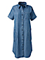 Blusenkleid in Denim-Optik aus Lyocell