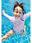 Girls' Rash Vest Bow Trim Swim Set