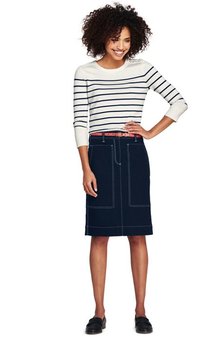 Women's Petite Canvas Carpenter Skirt