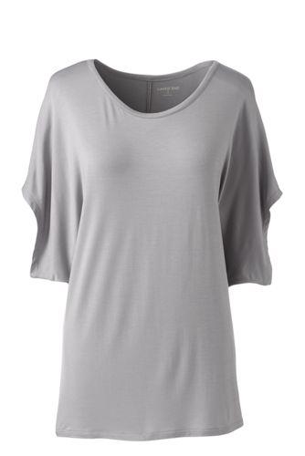 Le T-Shirt Ample en Bambou Stretch, Femme Stature Standard