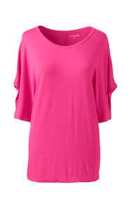 Womens Petite Jersey Dolman Sleeve T-Shirt
