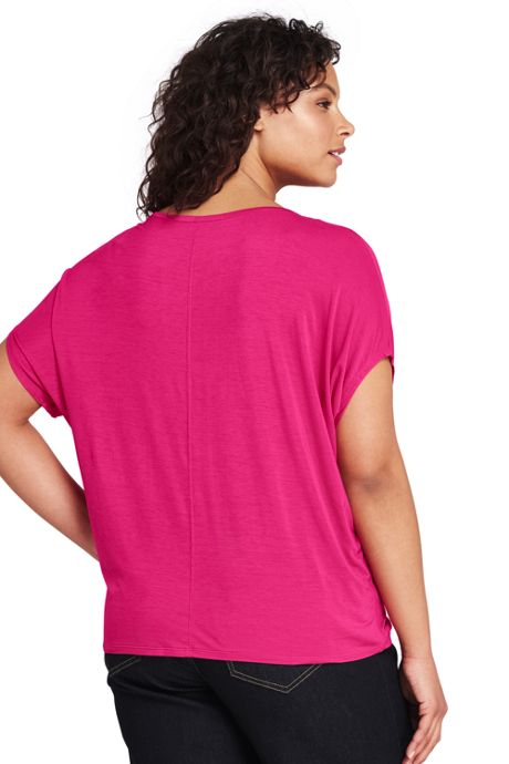 Womens Plus Size Jersey Dolman Sleeve T-Shirt