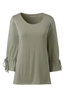 Women's Bamboo Jersey Tie-sleeve Top