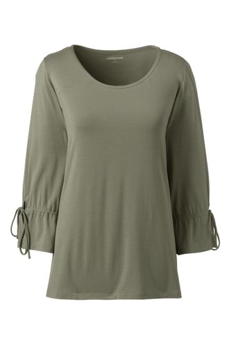Women's Soft Jersey Tie-sleeve Top