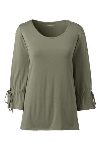 Shirt aus Bambusviskose mit 3/4-Ärmeln für Damen