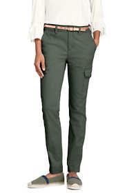Women's Petite Mid Rise Cargo Chino Pants
