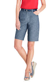 "Women's Tall Mid Rise 10"" Chino Shorts"