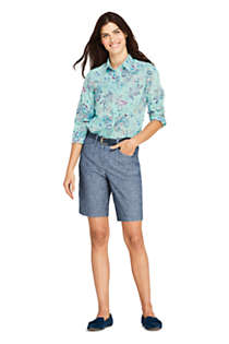 "Women's Mid Rise 10"" Chino Shorts, Back"