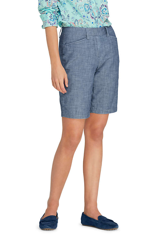 "Women's Mid Rise 10"" Chino Shorts, Front"