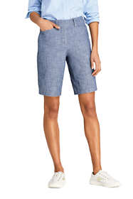 "Women's Petite Mid Rise 10"" Chino Shorts"