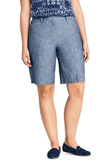 Women's Mid Rise 10″ Chambray Bermuda Shorts