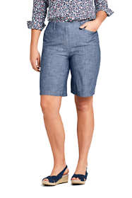 "Women's Plus Size Mid Rise 10"" Chino Shorts"