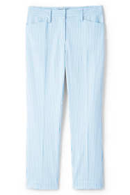 Women's Tall Mid Rise Seersucker Crop Pants