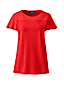 Women's T-shirt With Lace Trim and Flutter Sleeve