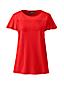 T-Shirt Manches Courtes Volantées, Femme Stature Standard