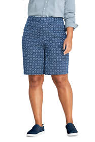 "Women's Plus Size Mid Rise 10"" Chino Bermuda Shorts"