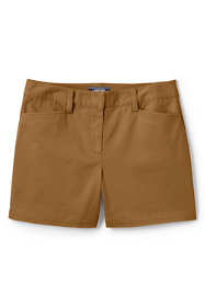 "Women's Petite Mid Rise 5"" Chino Shorts"