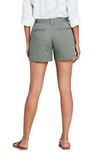 "Women's Mid Rise 5"" Chino Shorts, Back"