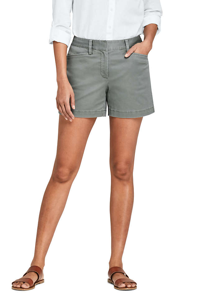"Women's Mid Rise 5"" Chino Shorts, Front"