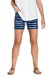 Gemusterte Chino-Shorts mit Stretch für Damen, 13 cm