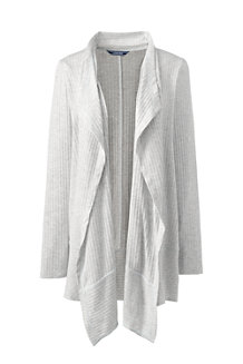 Women's Ribbed Waterfall Cardigan