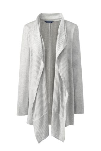 Women's Plus Ribbed Waterfall Cardigan