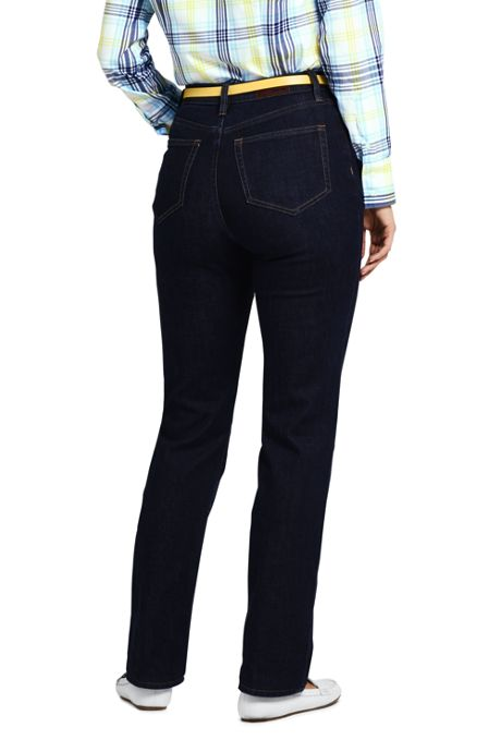 Women's Petite High Rise Straight Leg Jeans