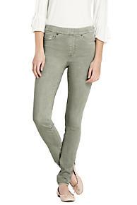 Femmes, Plus De Couleur Jeans Cheville Mince De Faible Hauteur - 28 - Terres Vertes Se Terminent