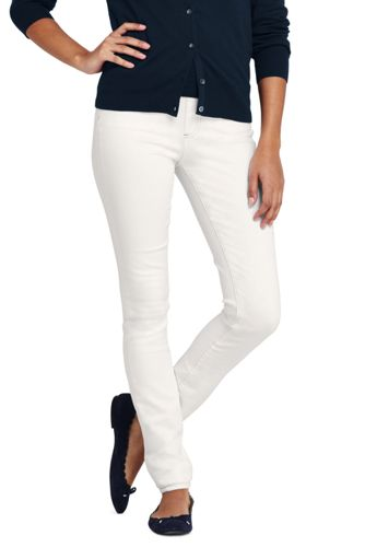 Women's Pull-on Skinny White Jeans