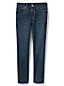 Le Jean Droit Stretch Indigo Taille Mi-Haute, Femme Stature Standard