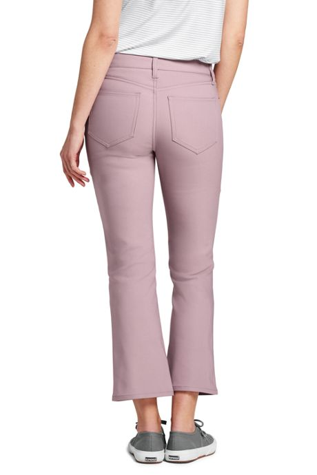 Women's Mid Rise Kick Crop Pants