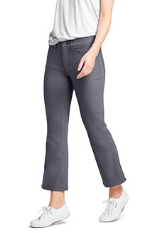 Women's Mid Rise Kick Cropped Trousers